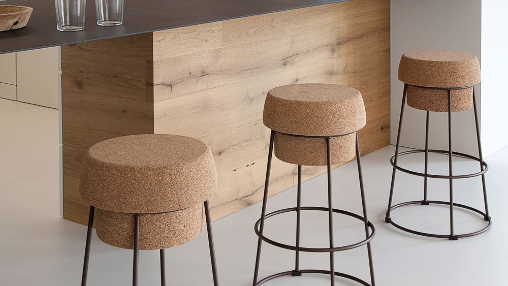 Bouchon stool by Orlandini & Radice for Domitalia